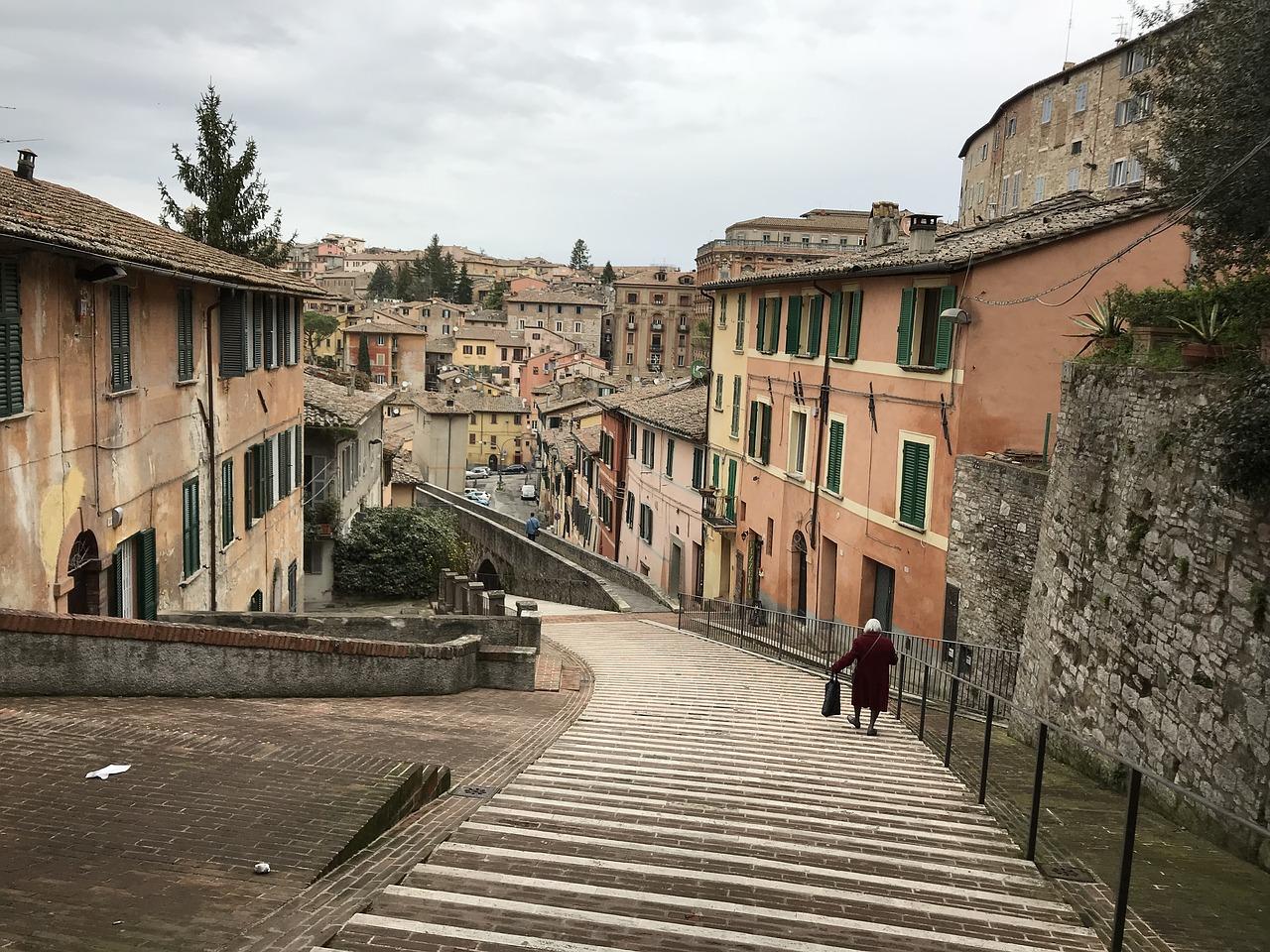 Architektura Perugia Włochy Wakacje i wycieczki do Włoch